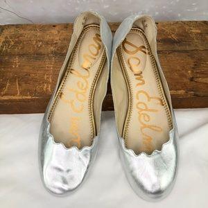Sam Edelman Silver Finnegan Ballet Flat Size 9